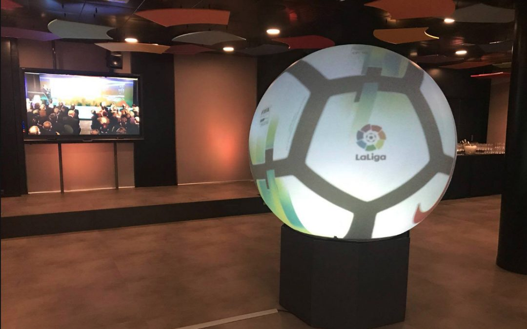 Puffersphere in the new headquarters of LaLiga