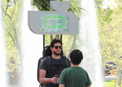 Interactive BackPack for Festivals